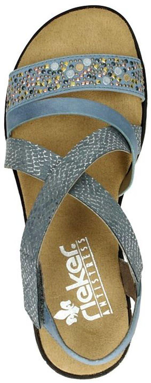 Rieker Dames sandalen Licht blauw 7x5q6