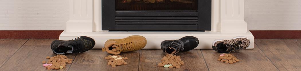 Banner Sinterklaas schoen met pepernoten