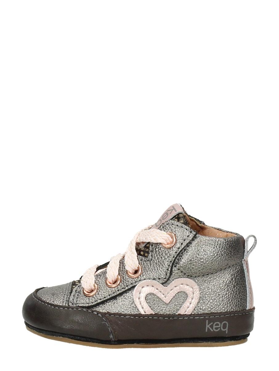 Keq - Meisjes Baby Schoentjes Zilver