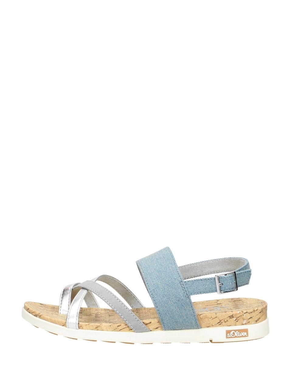 S.oliver - Dames Sandalen  - Licht Blauw