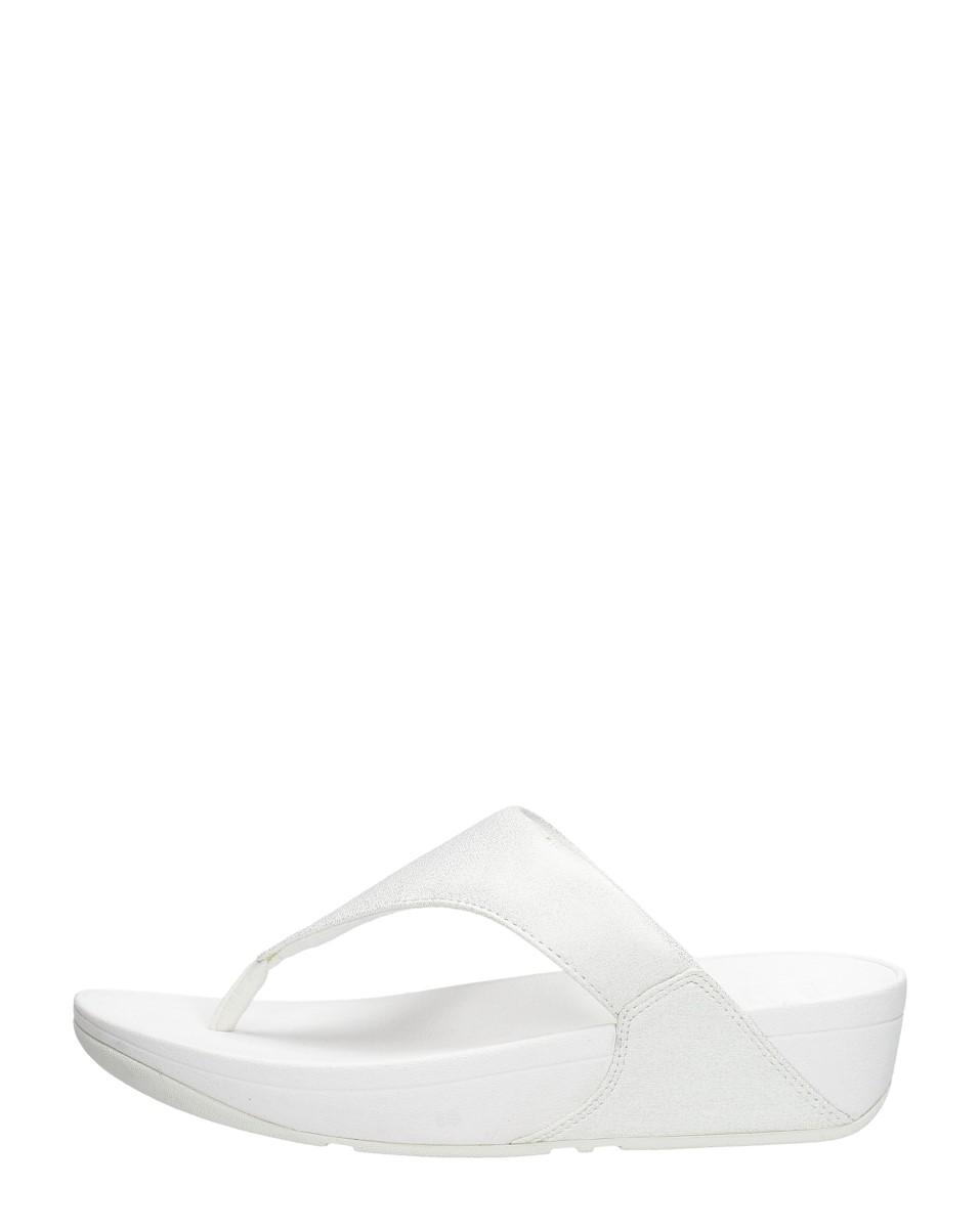 FitFlop Lulu™ shimmer toe post stone-schoenmaat 37 online kopen