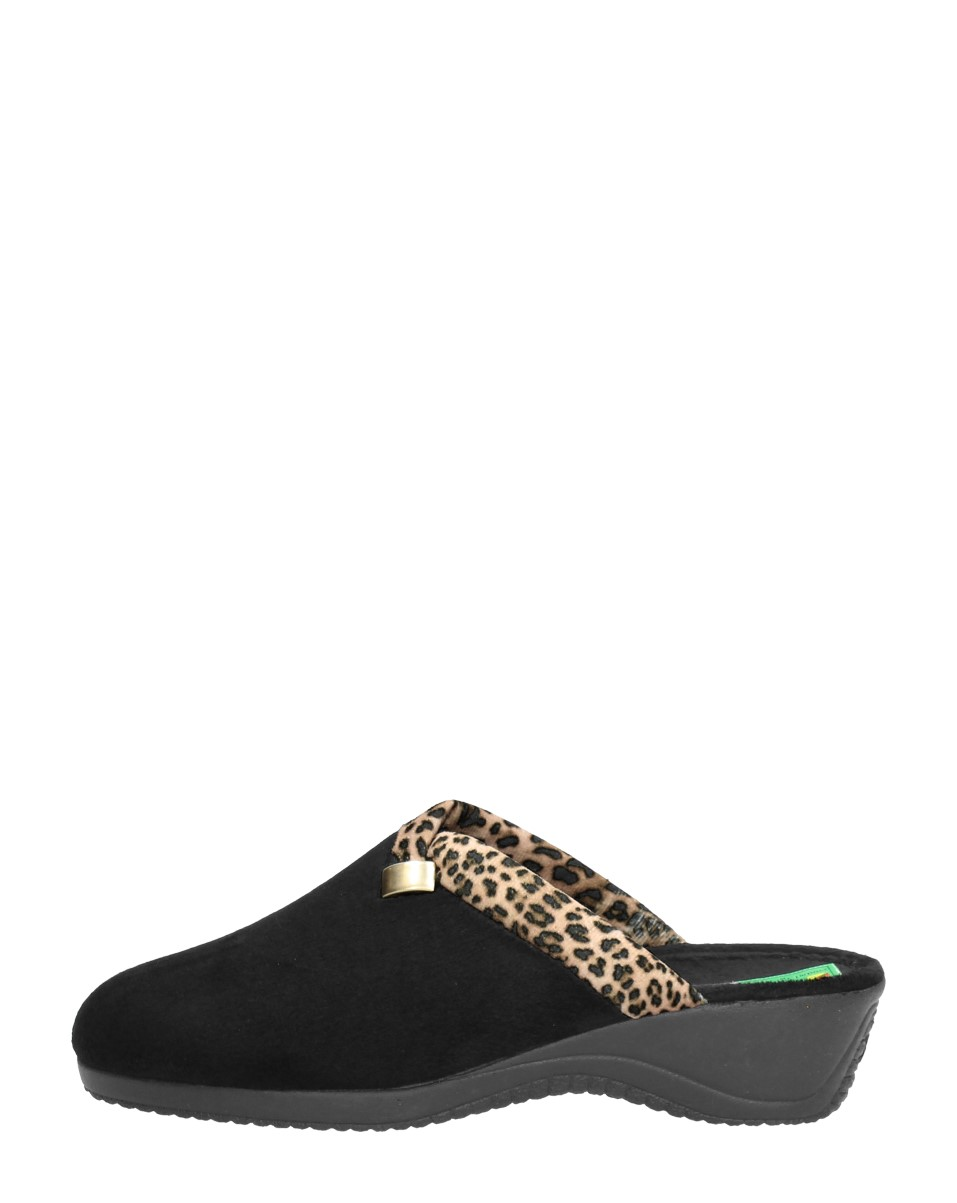 Alberola - Dames Pantoffels  - Zwart