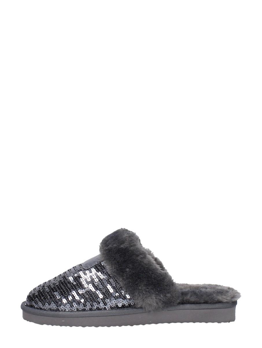 Super Cracks - Dames Pantoffels Zilver - Zilverkleur