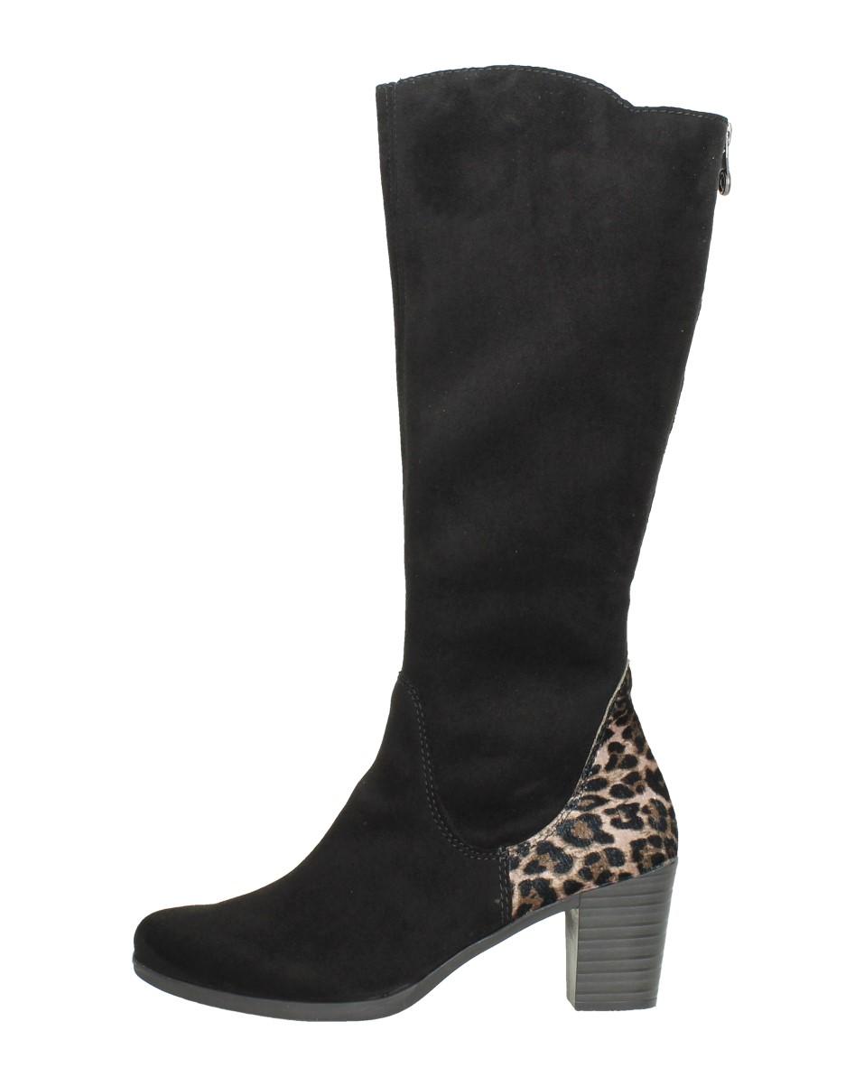 Rieker - Dames Lange Laarzen  - Zwart